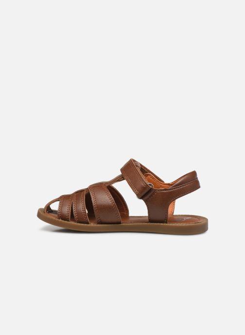 Sandales et nu-pieds Shoo Pom Solar Tonton Marron vue face