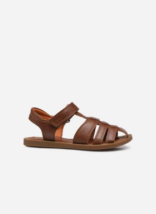 Sandales et nu-pieds Shoo Pom Solar Tonton Marron vue derrière