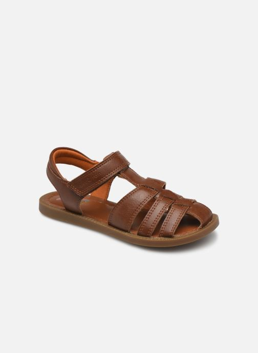 Sandales et nu-pieds Shoo Pom Solar Tonton Marron vue détail/paire