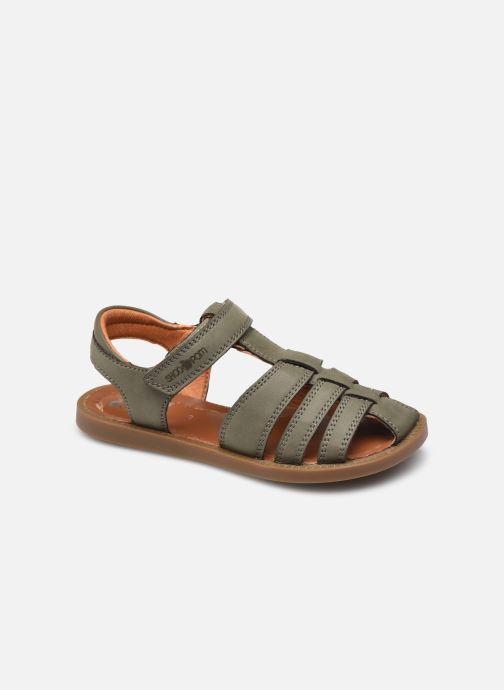 Sandales et nu-pieds Shoo Pom Solar Tonton Vert vue détail/paire