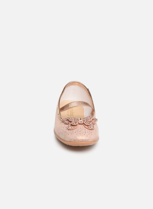 Ballerines Conguitos Agostina Argent vue portées chaussures