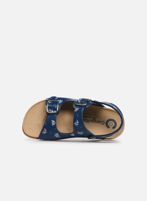 Sandales et nu-pieds Conguitos Adrian Bleu vue gauche