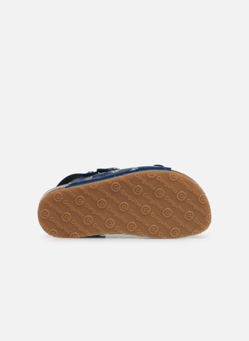 Sandales et nu-pieds Conguitos Adrian Bleu vue haut