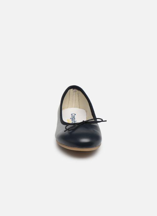 Ballerines Conguitos Barbara Bleu vue portées chaussures