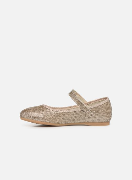 Ballerines Conguitos Claudia Or et bronze vue face