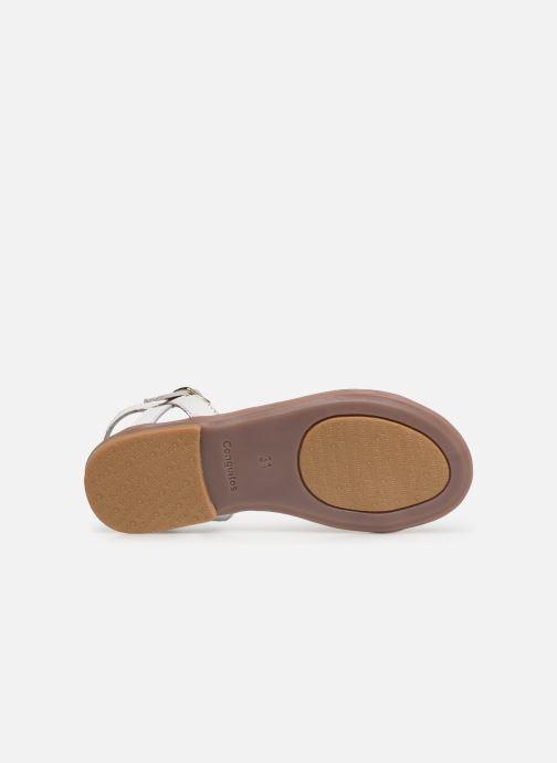 Sandales et nu-pieds Conguitos Esperanza Blanc vue haut