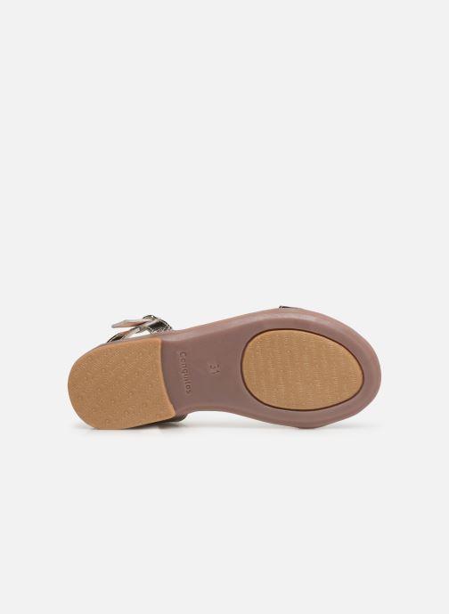 Sandales et nu-pieds Conguitos Esperanza Argent vue haut