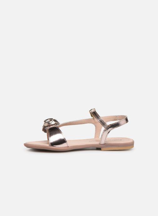 Sandalias Conguitos Reina Oro y bronce vista de frente