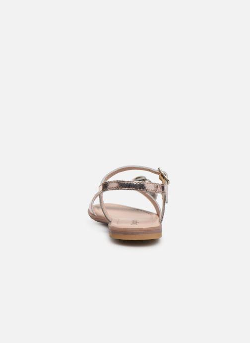 Sandales et nu-pieds Conguitos Reina Or et bronze vue droite