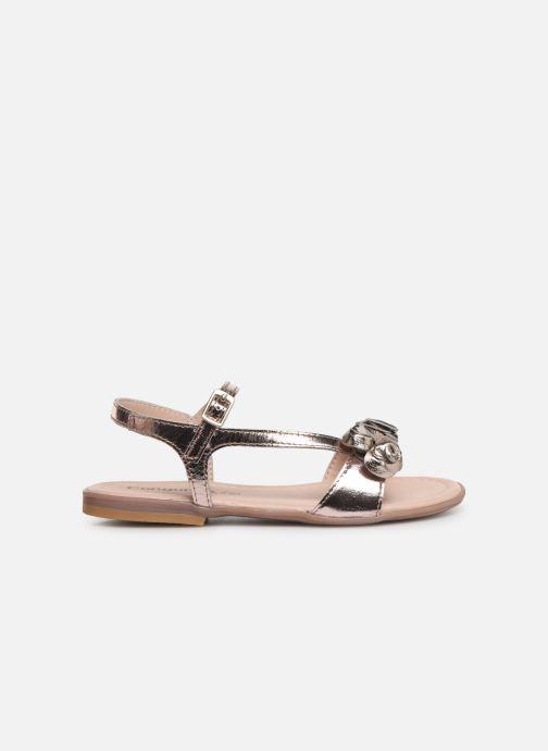 Sandales et nu-pieds Conguitos Reina Or et bronze vue derrière