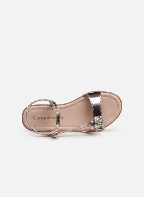 Sandales et nu-pieds Conguitos Reina Or et bronze vue gauche