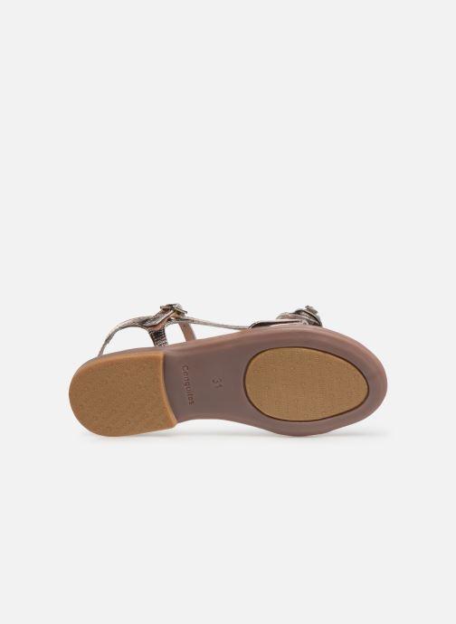 Sandales et nu-pieds Conguitos Reina Or et bronze vue haut