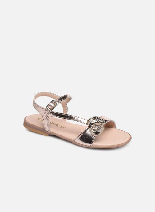 Sandaler Conguitos Reina Guld og bronze detaljeret billede af skoene