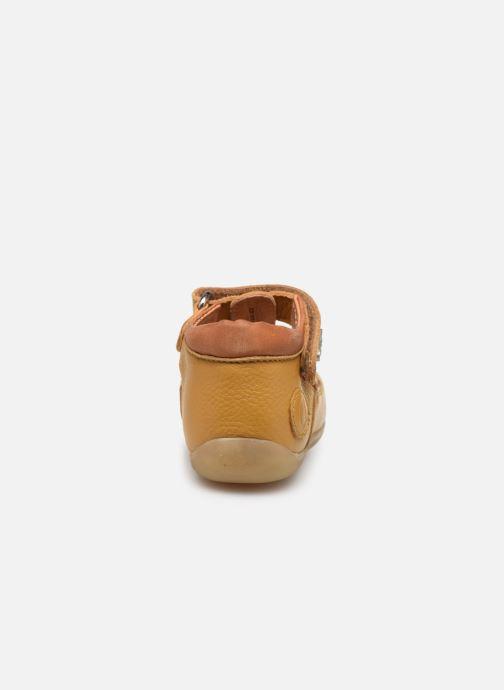 Sandales et nu-pieds Aster Denys Jaune vue droite