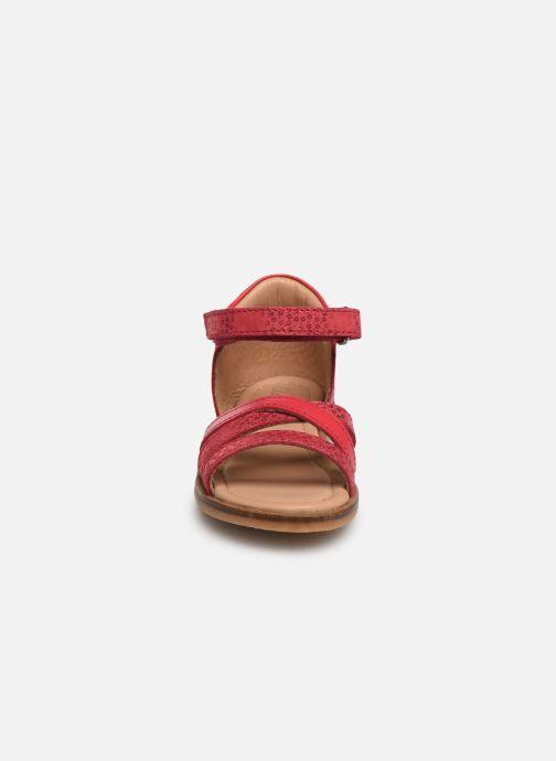 Sandales et nu-pieds Aster Nawak Rose vue portées chaussures