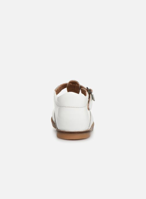Ballet pumps Aster Noria White view from the right