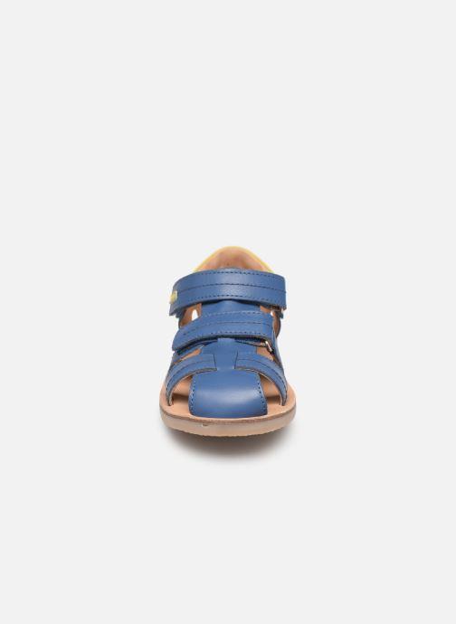 Sandales et nu-pieds Aster Perceval Bleu vue portées chaussures