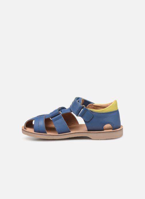 Sandales et nu-pieds Aster Perceval Bleu vue face