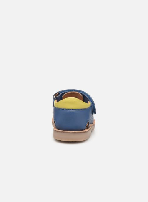 Sandales et nu-pieds Aster Perceval Bleu vue droite