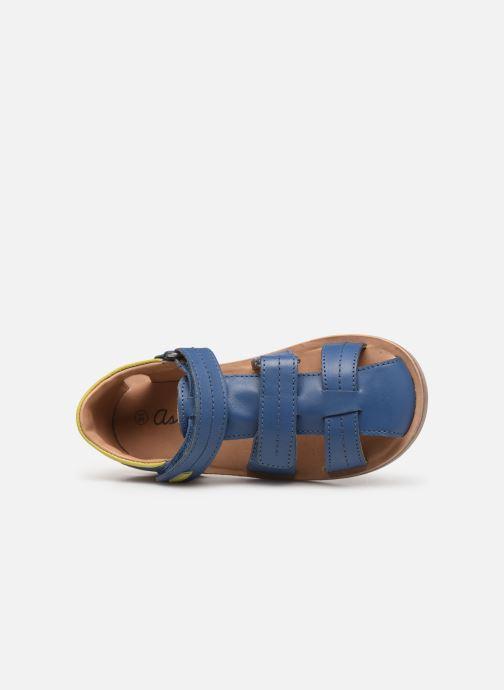 Sandales et nu-pieds Aster Perceval Bleu vue gauche