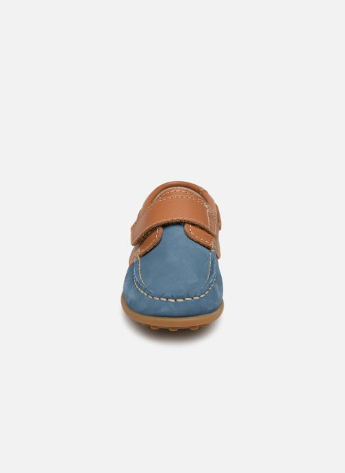 Chaussures à scratch Aster Micado Bleu vue portées chaussures