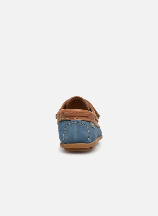 Schoenen met klitteband Aster Micado Blauw rechts