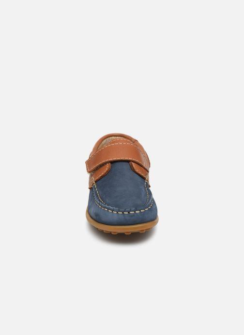 mit Klettverschluss Aster Micado blau schuhe getragen
