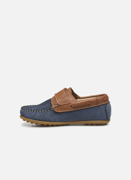 Zapatos con velcro Aster Micado Azul vista de frente
