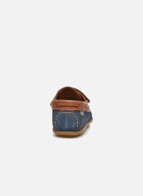 Chaussures à scratch Aster Micado Bleu vue droite