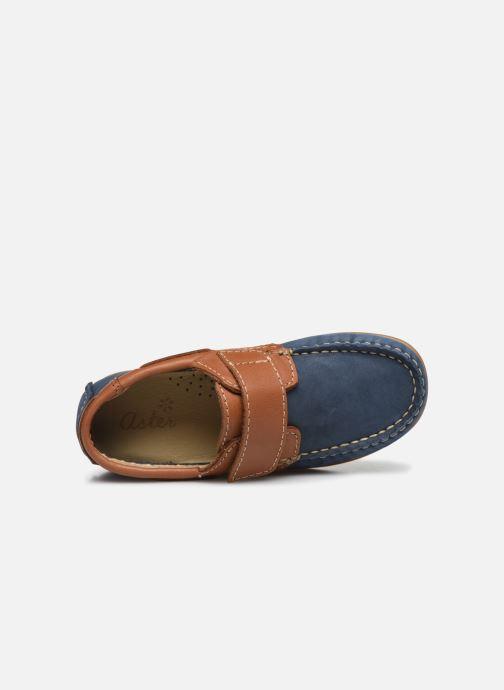 Zapatos con velcro Aster Micado Azul vista lateral izquierda