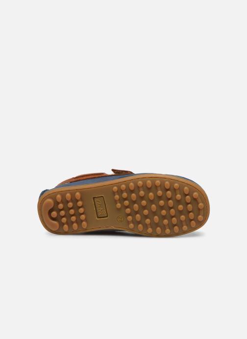 Chaussures à scratch Aster Micado Bleu vue haut
