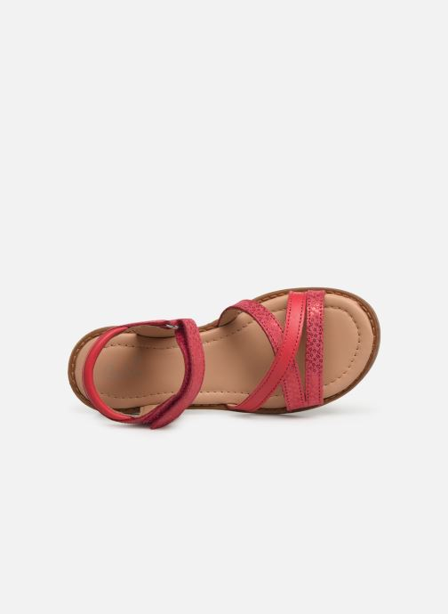 Sandales et nu-pieds Aster Tessia Rose vue gauche