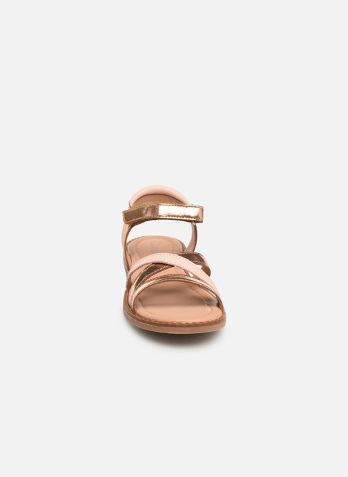 Sandales et nu-pieds Aster Tessia Rose vue portées chaussures