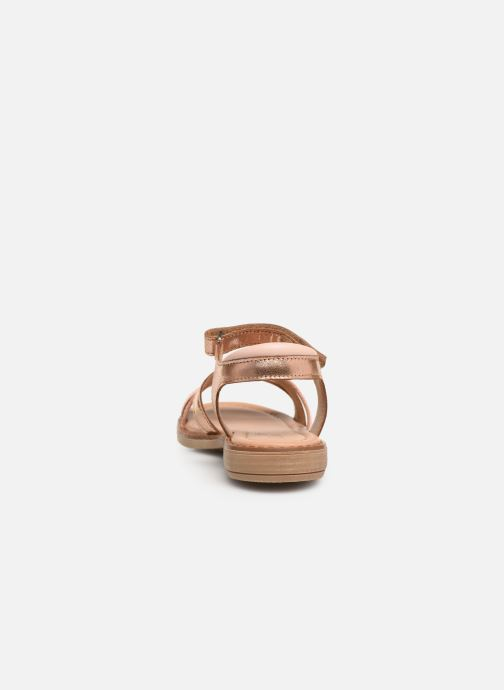 Sandales et nu-pieds Aster Tessia Rose vue droite