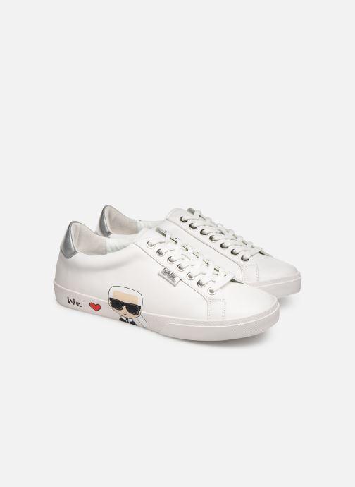blanc Chez Ikonic Lo Lagerfeld Baskets Skool Karl wx7YIq0c