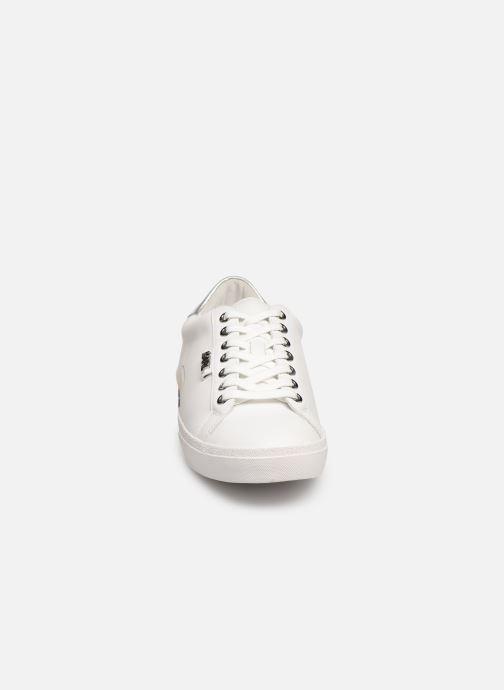 Baskets KARL LAGERFELD Skool Karl Ikonic Lo Blanc vue portées chaussures