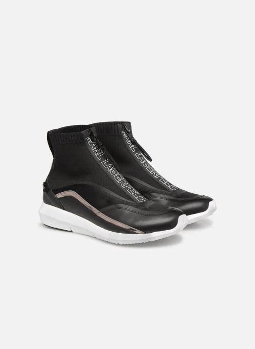 Sneakers KARL LAGERFELD Vitesse Knit Sock Zip Zwart 3/4'