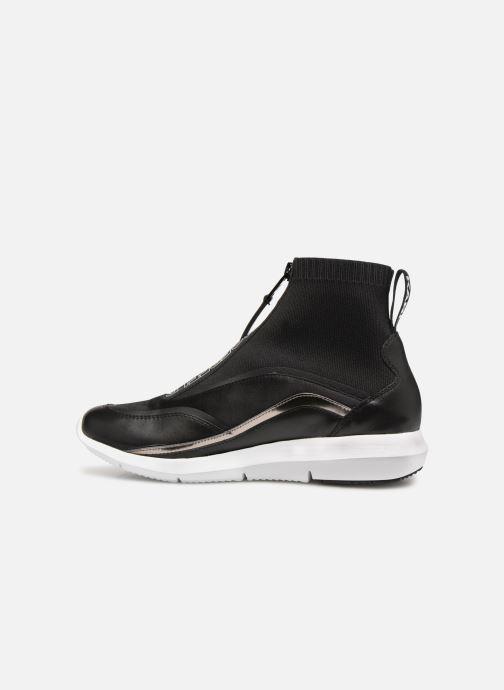 Sneakers KARL LAGERFELD Vitesse Knit Sock Zip Zwart voorkant