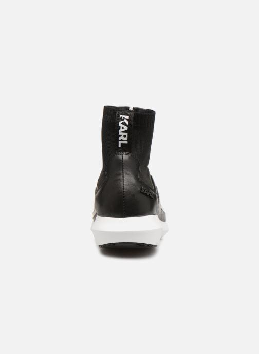 Deportivas Karl Lagerfeld Vitesse Knit Sock Zip Negro vista lateral derecha