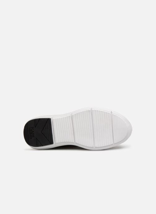 Baskets KARL LAGERFELD Vitesse Knit Sock Zip Noir vue haut