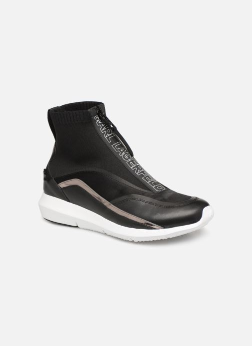 Sneakers KARL LAGERFELD Vitesse Knit Sock Zip Zwart detail