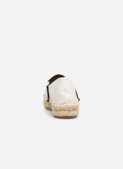 Espadrilles KARL LAGERFELD Kamini Signature Slip On Blanc vue droite