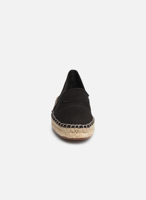 Espadrilles Karl Lagerfeld Kamini Signature Slip On Noir vue portées chaussures