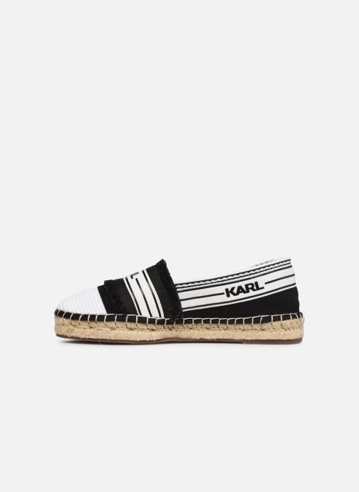 Espadrilles Karl Lagerfeld Kamini Patchwork Slip On Noir vue face