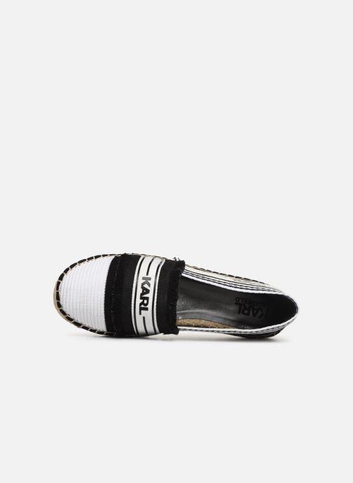 Espadrilles Karl Lagerfeld Kamini Patchwork Slip On Noir vue gauche