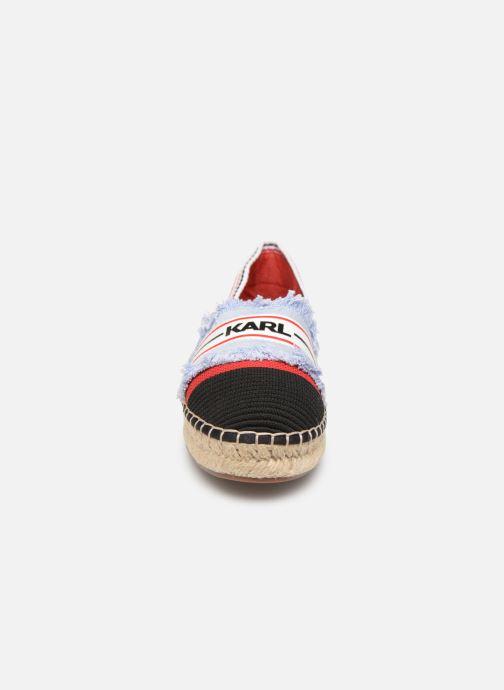 Scarpe di corda KARL LAGERFELD Kamini Patchwork Slip On Rosso modello indossato