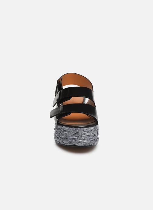 Espadrilles Clergerie Atoll Noir vue portées chaussures