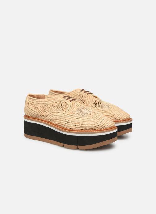 Zapatos con cordones Clergerie Acajou Beige vista 3/4