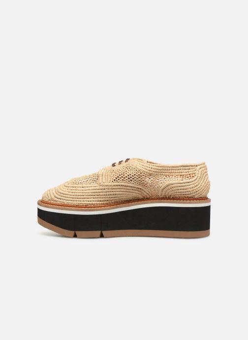 Chaussures à lacets Clergerie Acajou Beige vue face
