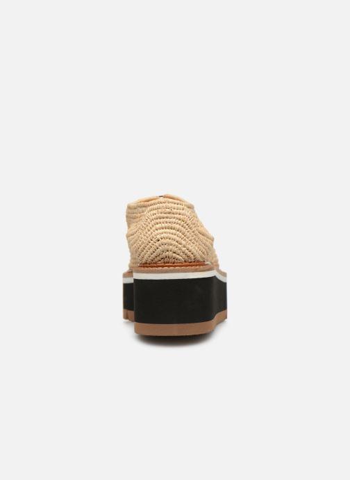 Chaussures à lacets Clergerie Acajou Beige vue droite